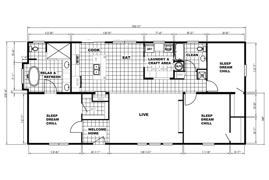 The THE WASHINGTON         KARSTEN Floor Plan