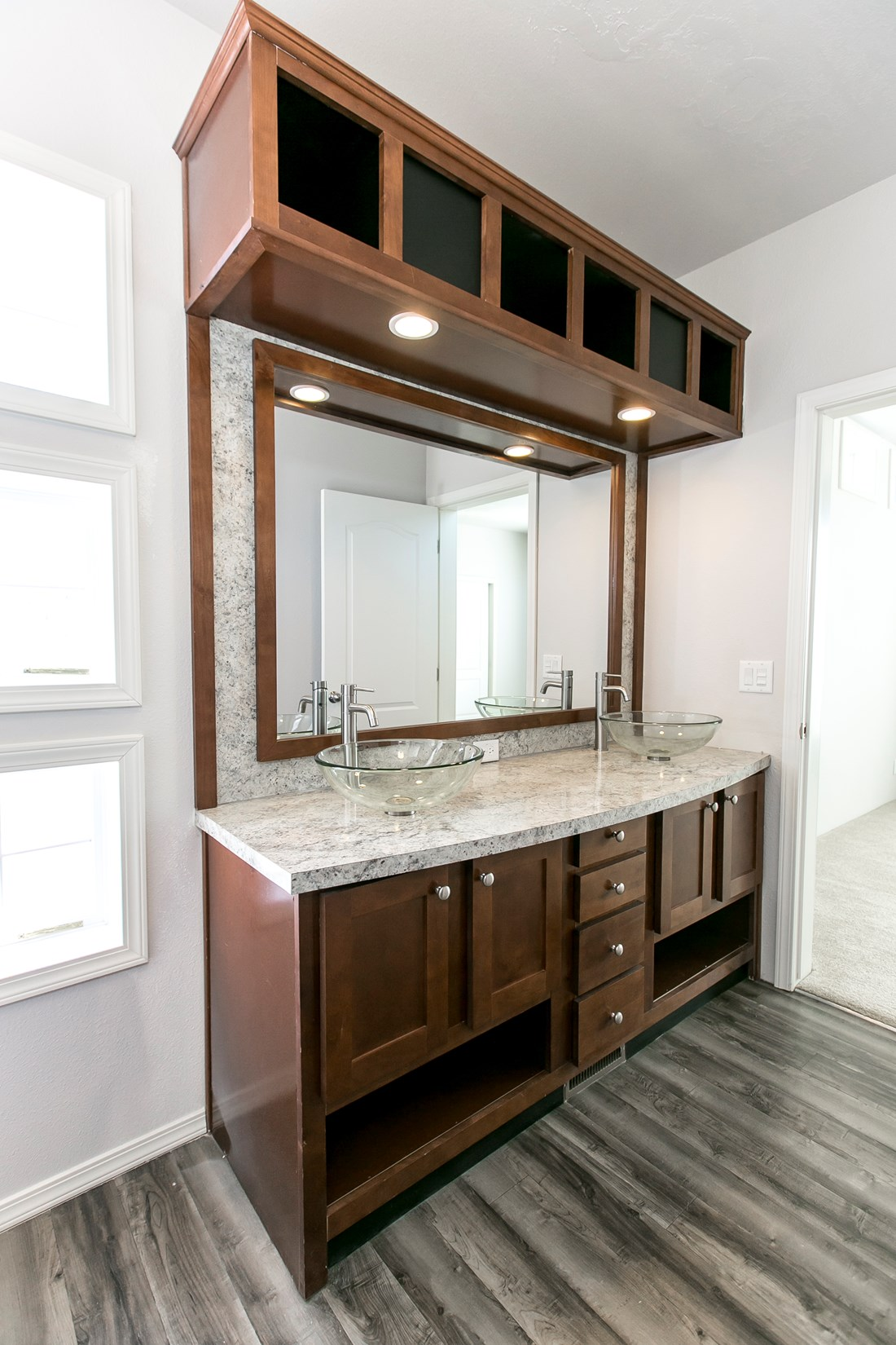 The ING681F EUCALYPTUS   (FULL) GW Master Bathroom. This Manufactured Mobile Home features 3 bedrooms and 2 baths.