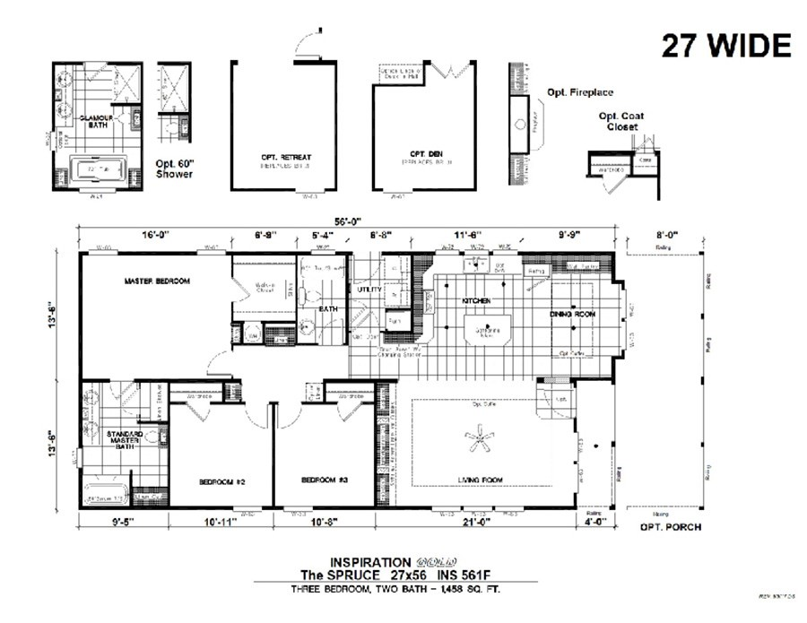 The THE SPRUCE             KARSTEN Floor Plan